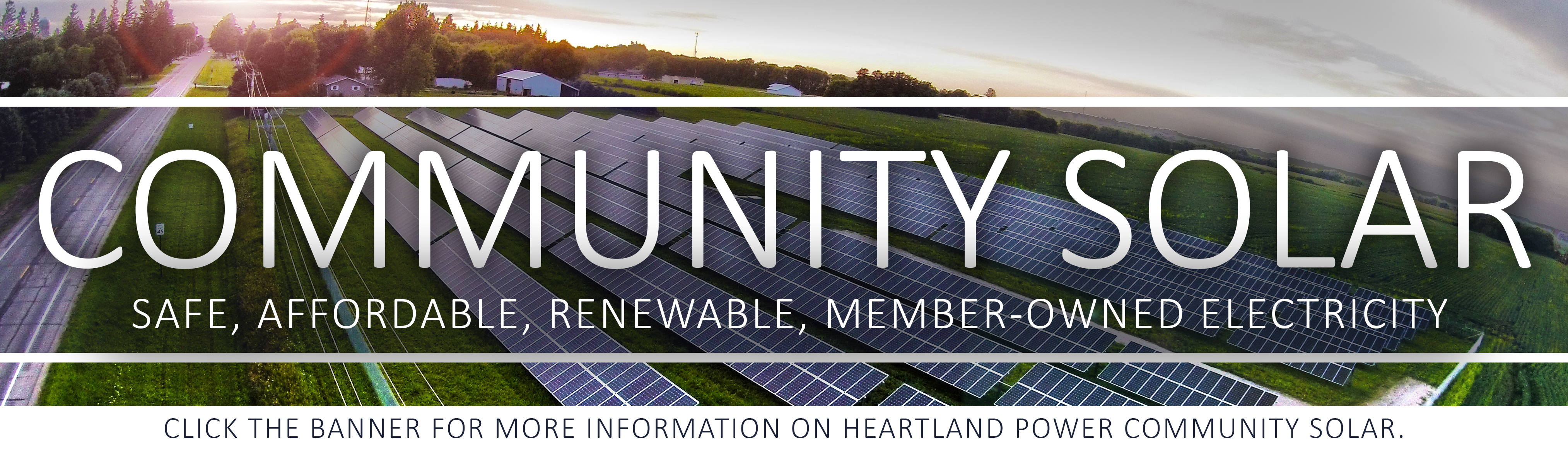 Click here for more information on Heartland Power's community solar array!